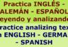 Learn Spanish & German by analyzing text. Aprender idiomas analizando textos en voz alta